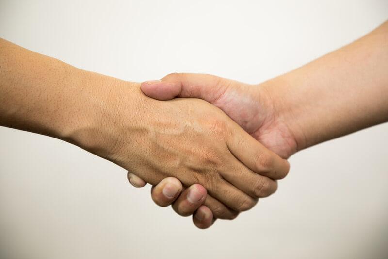 力石とジョー握手